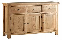 Vale Furnishers - Dorking Three Door Sideboard